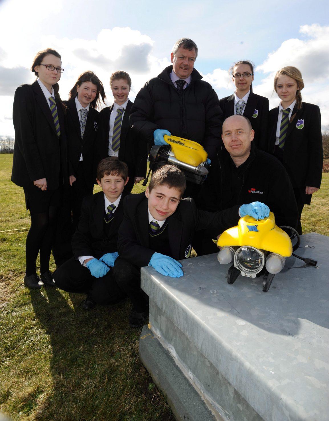 Yellow ROV Submarine Inspection Visit