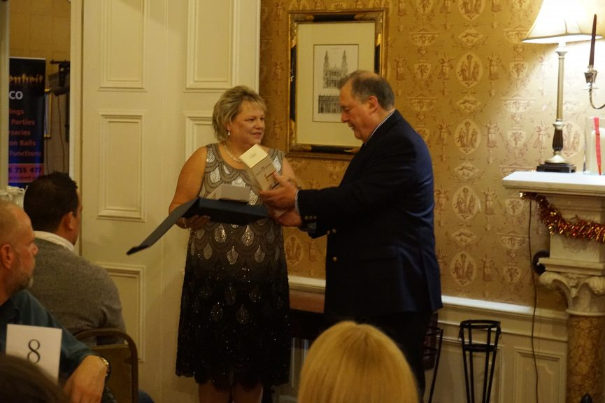 Shelagh Briggs awarded for 20 years of service